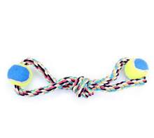 Free shipping Pets Rope Ball Toys Bite Ball Colorful Toys Dog Chews Cotton Rope Knot Ball Grinding Teeth odontoprisis Pet Toys