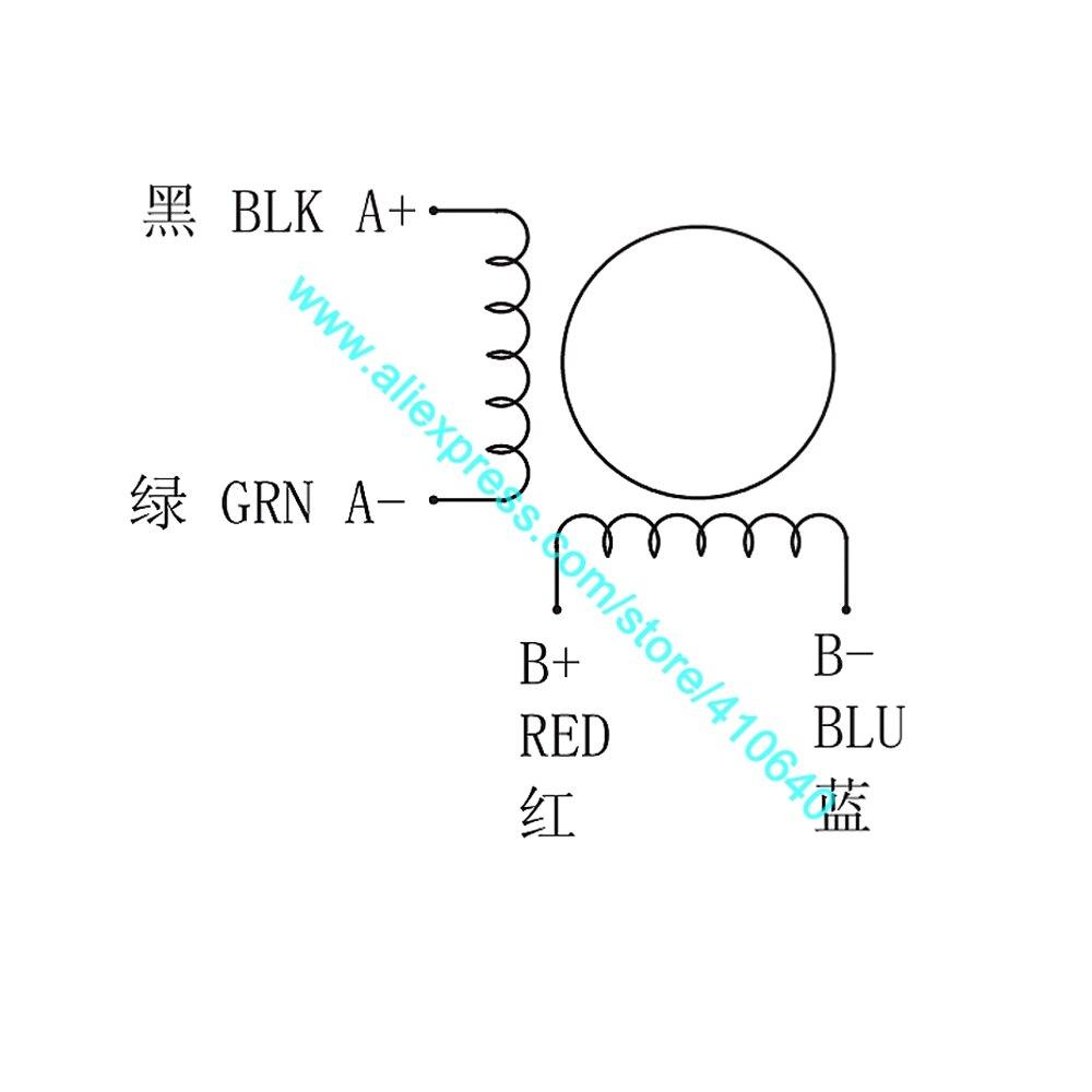 NEMA17 Gear Stepper 42HS134014A4G10 wiring diagram