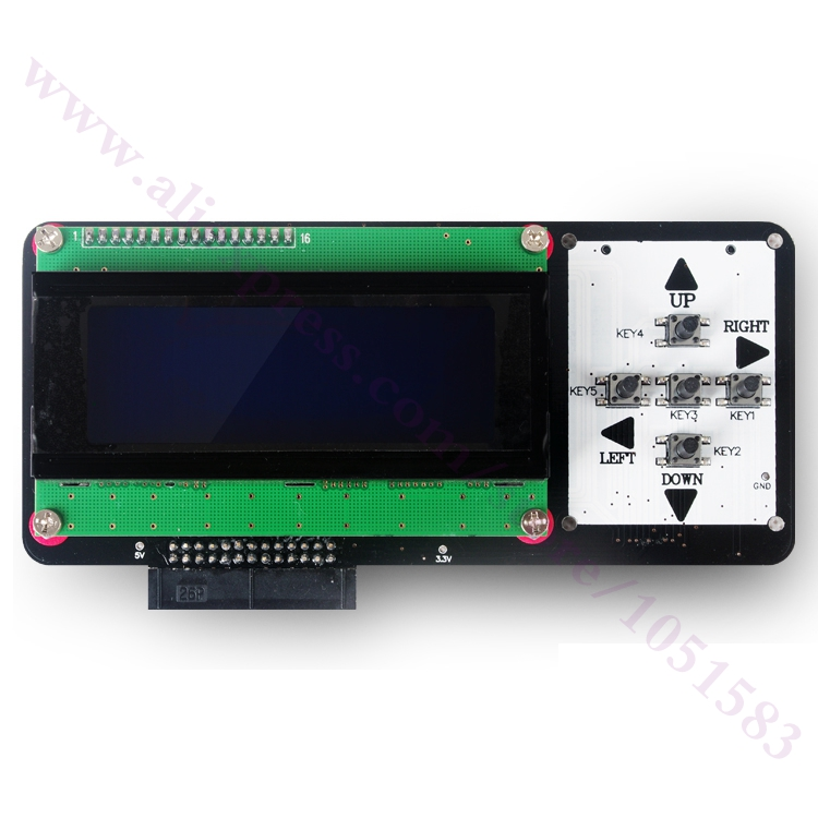3D printer parts New Version Reprap Makerbot smart controller 2 In 1 LCD panel module Key