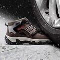 Modyf мужские зима теплая стальной носок защитной обуви повседневная светоотражающие дышащий открытый сапоги прокол доказательство обувь