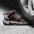 Modyf hombres invierno cálido de trabajo puntera de acero zapatos de seguridad reflectante al aire libre respirable ocasional botas de calzado a prueba de pinchazos