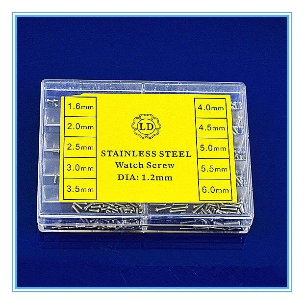 20 компл./лот высокое качество запчасти для часов-нержавеющая сталь винт запчасть для часов-715017