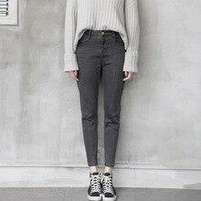 Мода осень карандаш джинсы женские полная длина Упругой джинсовые брюки женские Тонкие Брюки осень-зима жан брюки старинные узкие jea
