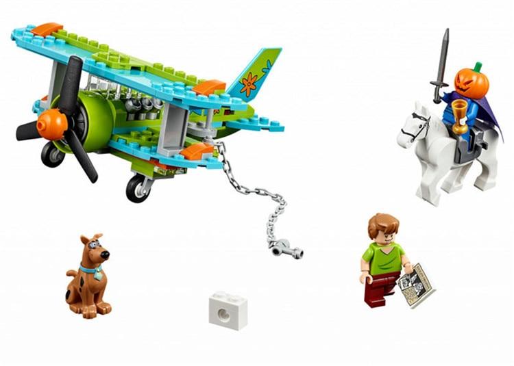 Bela 10429 Scooby Doo Mummy Museum Mysterious Plane Building Block Toys Compatible with Legoe Kids Gift bela scooby doo haunted lighthouse building block model kits scooby doo marvel toys compatible legoe