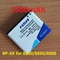 2500 mah batería bp-6x/6x pb batería uso para nokia 8800/8860/8800 sirocco/n73i