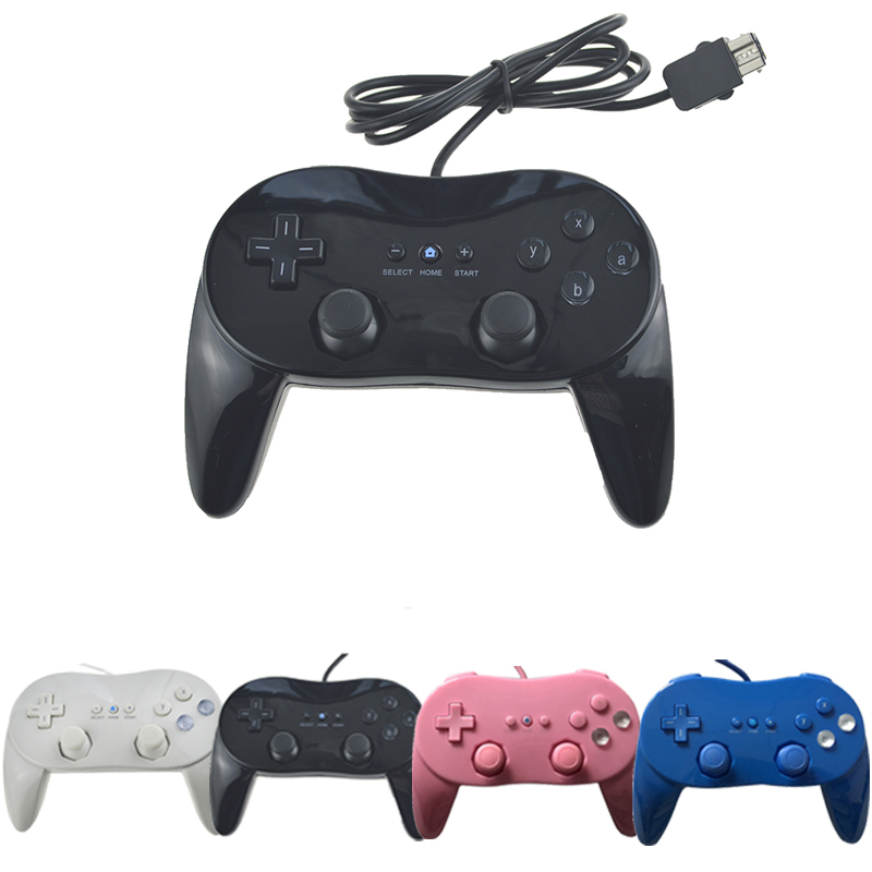 Clássico Wired Game Controller Gaming controle Remoto Pro Choque Gamepad Joystick Para Nintend Wii Para