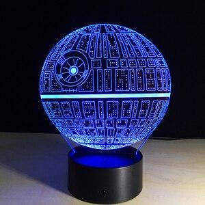 Image 5 - 2019 חדש 3D לילה מנורת מלחמת כוכבים מות קרב המילניום פלקון R2 D2 יודה BB 8 הובלת כלב סרט אוהדי ילד תאורה מתנה