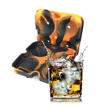 3D 4PCS Diamond Silicone Ice Cube Tray Ice Mould Frozen Maker Ice Form Frozen Party Supplies Ice Shape Bar Accessories