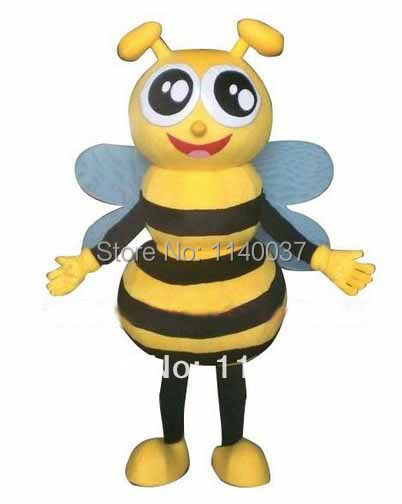 NO.1 MASCOT Kid Size Little Honey Bee Mascot Costume Cartoon Character Bee Party Carnival Costumes Fancy Dress for Children