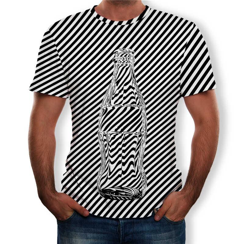Летний больших размеров, мужские топы, модные футболки с 3D принтом, мужские футболки с коротким рукавом и круглым вырезом, большие размеры 5XL, мужские рубашки, одежда