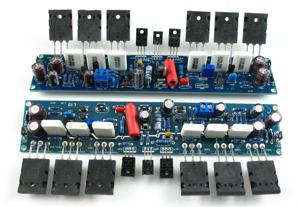LJM L10 Dual Channel (2 pcs) amplificateur Planches Complet 300 w + 300 w Classe AB 4R Ampli De Puissance bricolage kit d'amplificateur