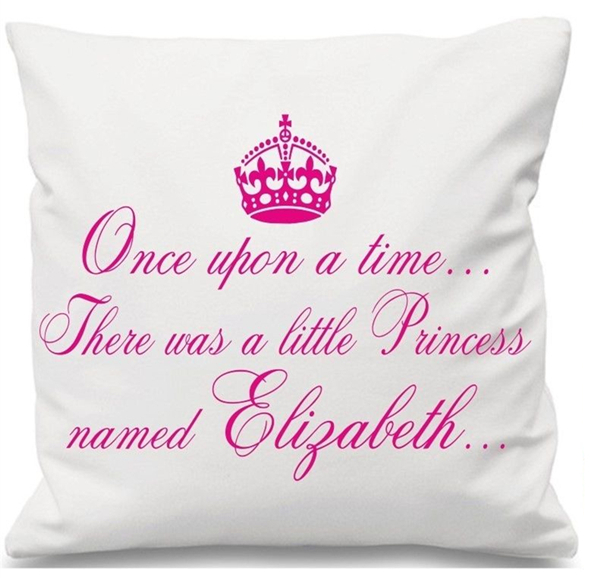 Personalized Once Upon A Time Princess Cushion Cover Crown Princess