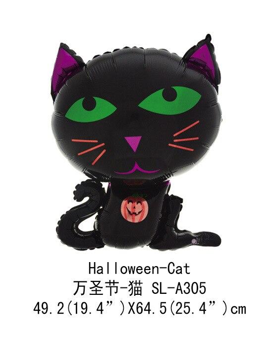 1 adet karikatür siyah Cadılar Bayramı kedi Cadılar Bayramı - Tatiller ve Partiler Için - Fotoğraf 3