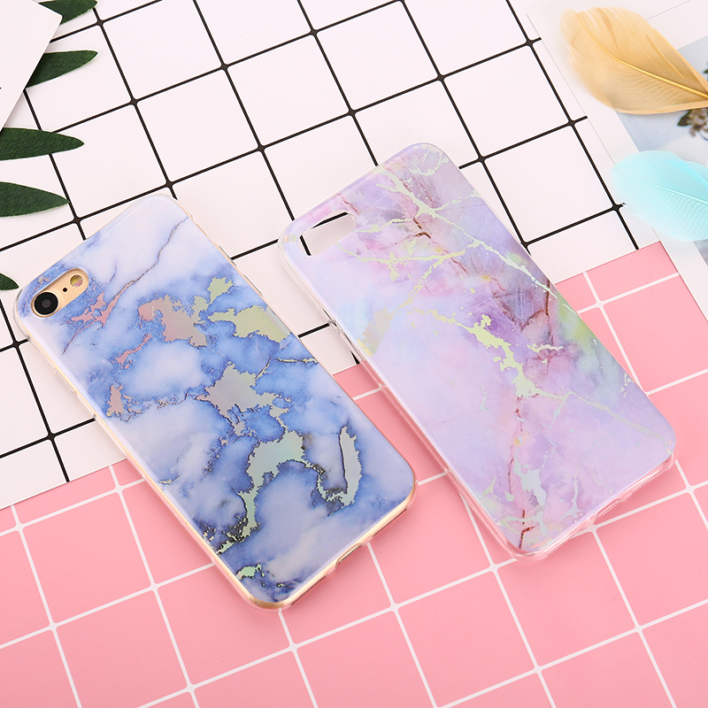 For iPhone 8 Case Marble Soft Tpu Skin Rubber Back Case For iPhone 5 5S 6 6S 7 8 Plus X Silicone Stone Texture for iPhone 7 case