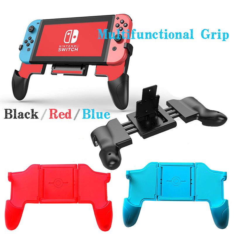 For Nintendo Switch NS Console Multifunctional Grip NS Switch Joy-Con Controller stretchable Handle Grip with 2 Game Card socket
