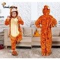 Engraçados dos miúdos Pijamas Robes Meninos Meninas Tigger Pijama Define Crianças Homewear Bebê Flanela Onesies Animais Pijamas Pijamas