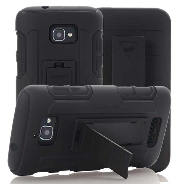 Heavy Duty Dual Layer Full-body Locking Belt Swivel Clip Holster Cover with Stand ShockProof Case For Coolpad Catalyst 3622A