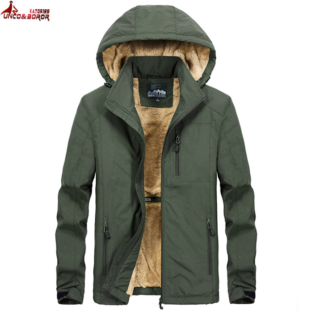 Brand winter coat men warm wool liner casual men`s windbreaker bomber jacket Detachable Hooded parka coat men clothes 4