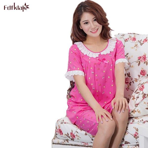 f3b5c3180245 2017 New Hot Sale Women Pajamas Sets Summer Short Sleeve Cotton Thin Pajamas  Home Furnishing Clothing Print Cute Pyjamas Sets