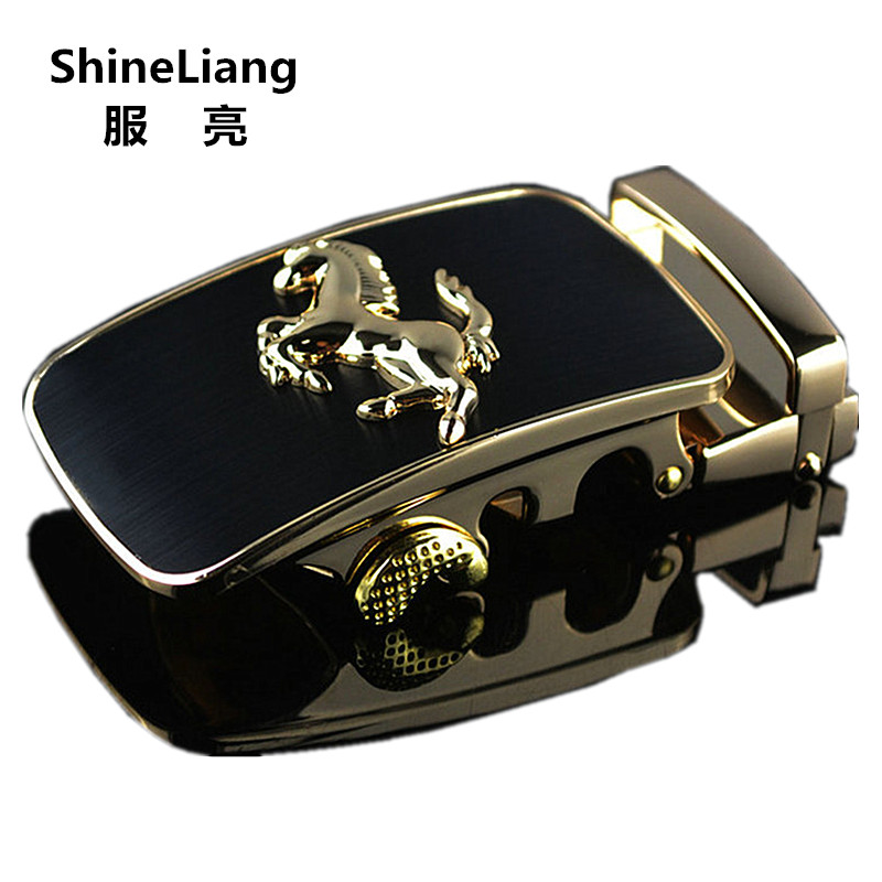 2018 Automatic belt buckle for men High quality alloy material gold silver horse Adaptation width 3.5CM Designers fashion brand
