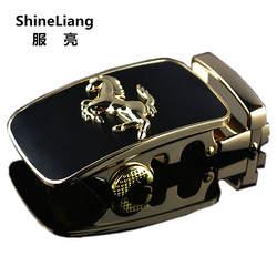 2018 Автоматическая пряжка на ремешке для мужчин Высокое качество сплав материал золото серебро лошадь адаптации Ширина 3,5 см модельер