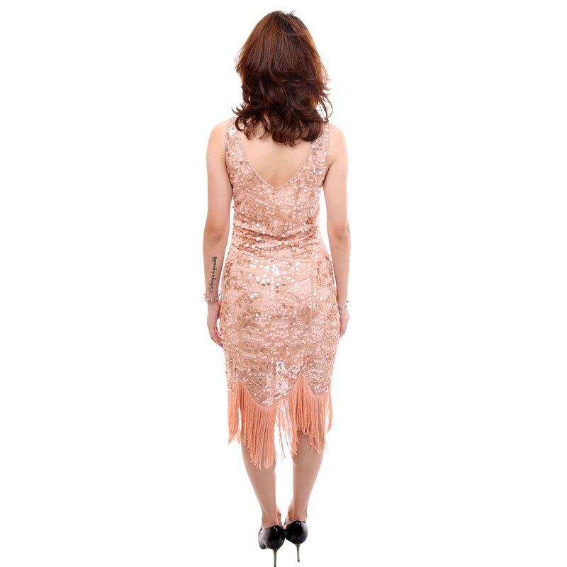 1ccd61291573 Della Vestito Paillettes Grande Nappa V Del Elegante S A Nuovo Delle Donne  1920 Partito Scollo Lusso Kr2015 Gatsby Tallone Frangia Flapper ...