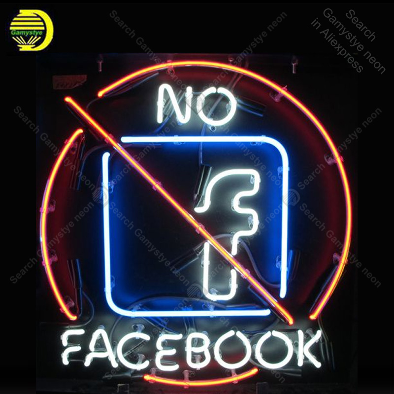 Lights & Lighting Light Bulbs Diplomatic No Facebook Anti Neon Sign Bulb Handcrafted Iconic Sign Custom Light Neon Art Lamps Sign Store Display Advertise Enseigne Lumine