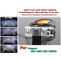 Para Peugeot 106/1007/207/207CC Coche Inteligente Cámara de aparcamiento/con Pistas de Módulo de Cámara CCD de visión Nocturna de Visión Trasera