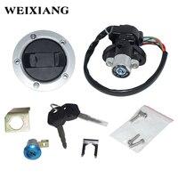 For Suzuki GSXR 600 750 GSXR600 GSXR750 Motorcycle Ignition Switch Assembly Fuel Tank Cover Lock Gas Cap Engine Hook Locking Key