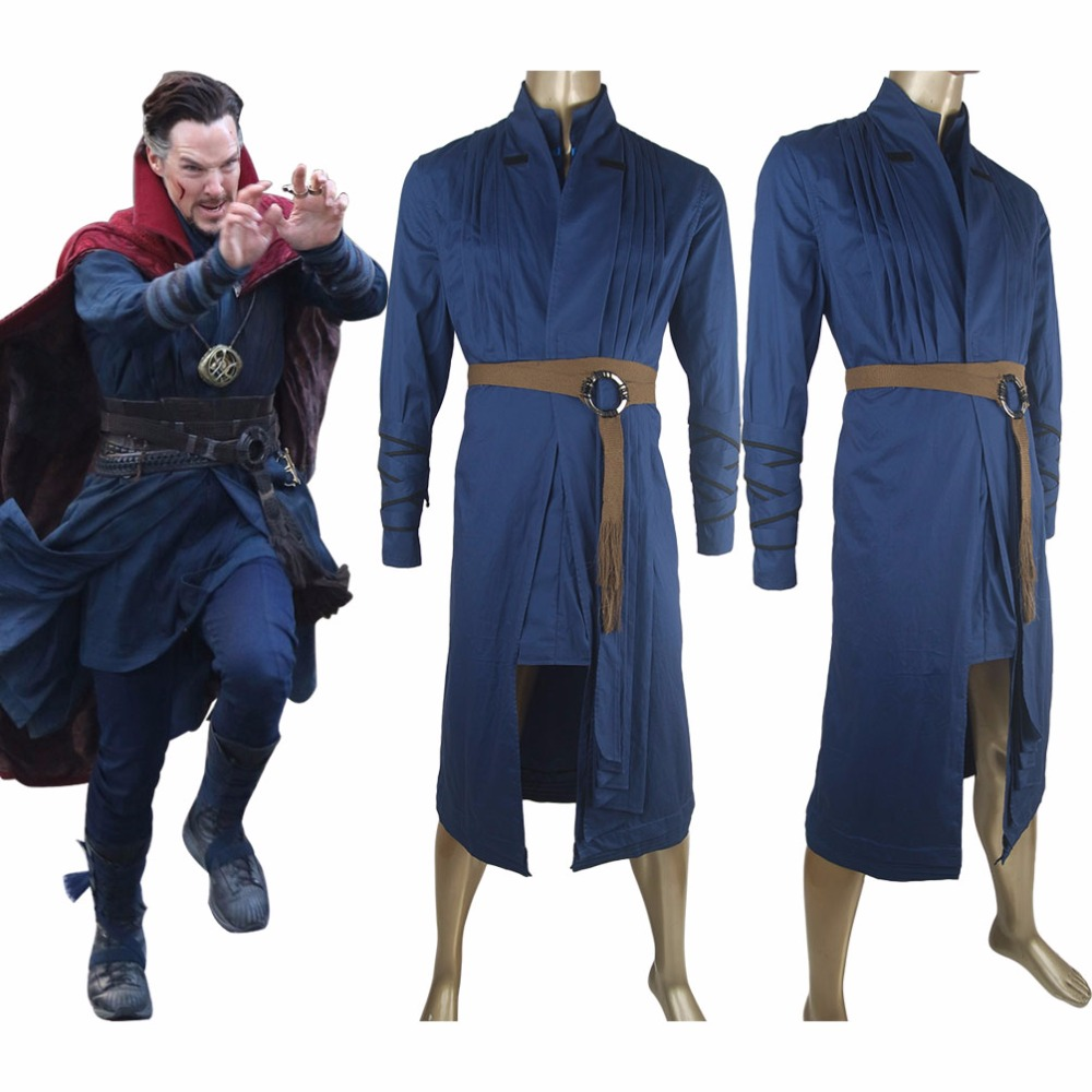 Doctor Strange Outfit Uniform Robe Halloween Cosplay Costume Comic-con Men Adults
