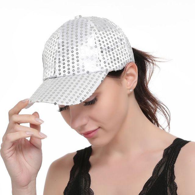 Women's Glitter,  Round Sequins Baseball Cap