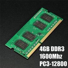 Universal 4GB DDR3 RAM Memory PC3-12800 1600 MHZ Laptop Compatible With Notebook Non-ECC For AMD