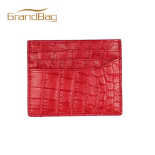 Super quality luxury genuine real croco alligator leather business card holder crocodile leather card case