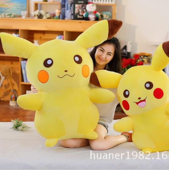 ФОТО 110cm Pikachu  Pokemon doll plush toys big size creative gift for Christmas High quality, wholesale price
