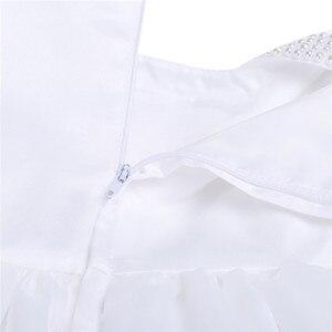 Image 5 - フラワーガールのドレス幼児赤ちゃんのプリンセスチュチュドレス真珠ネックノースリーブページェントウエディングパーティードレスコットンベビーガールサマードレス