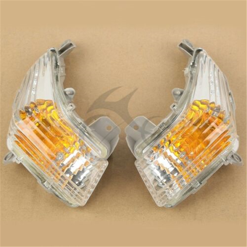 Motorcycle Clear Front Turn Signals Indicator Blinker Lens For Suzuki GSR 400 600 2006-2012