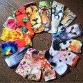 1 пара пользовательские моды дизайн симпатичный 3D печатных носки новый мужской low cut носки многоцветный случайный мультфильм животных формы носки