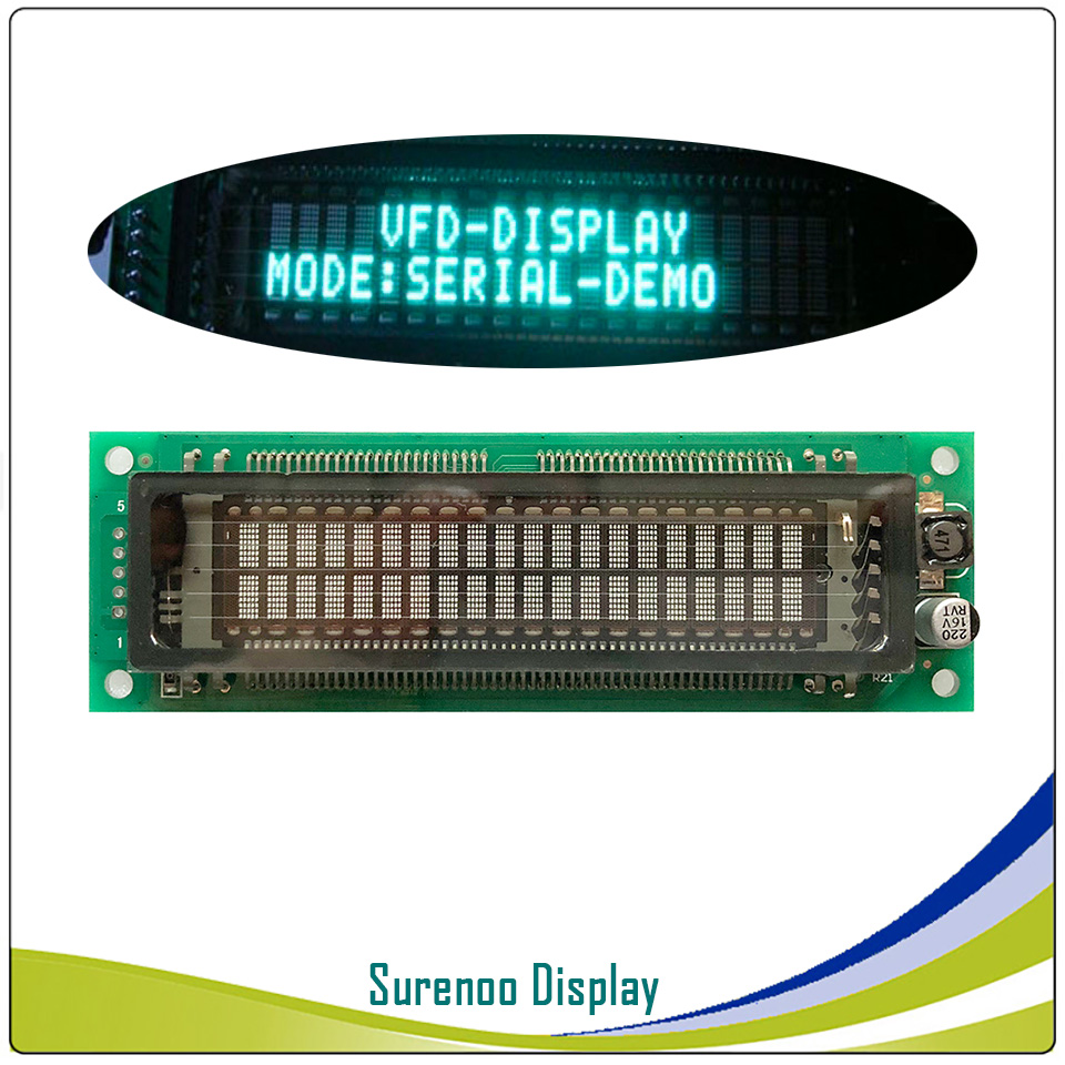 <font><b>2002</b></font> 202 20X2 Serial SPI VFD LCD Module Display Screen Compatible with SAMSUNG 20T202DA2JA for Arduino image