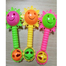 Baby Rattle Sunflowers Plastic Early Education Bell Music Teach Ring Hand Catcher Toy Funny Toys For Children Kids