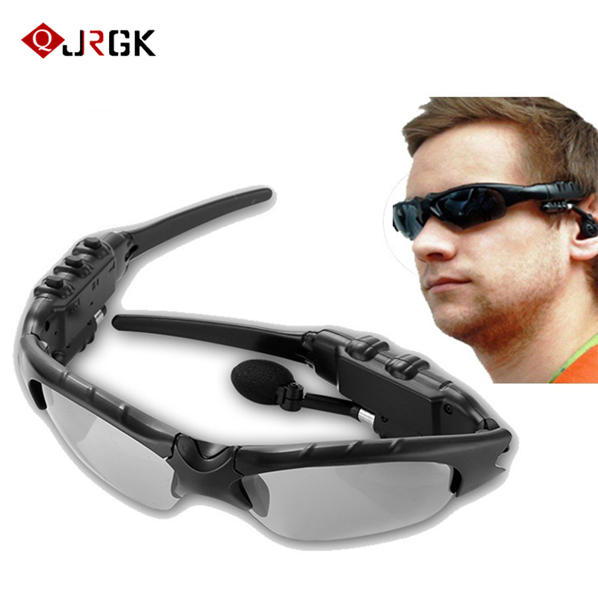 Bluetooth earphone Outdoor with Music Portable earphone glasses Earbuds Stereo Wireless earphone For iPhone Samsung Huawei