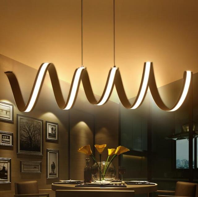 Moderno led l mparas colgantes comedor luces colgantes - Lamparas para salon modernas ...