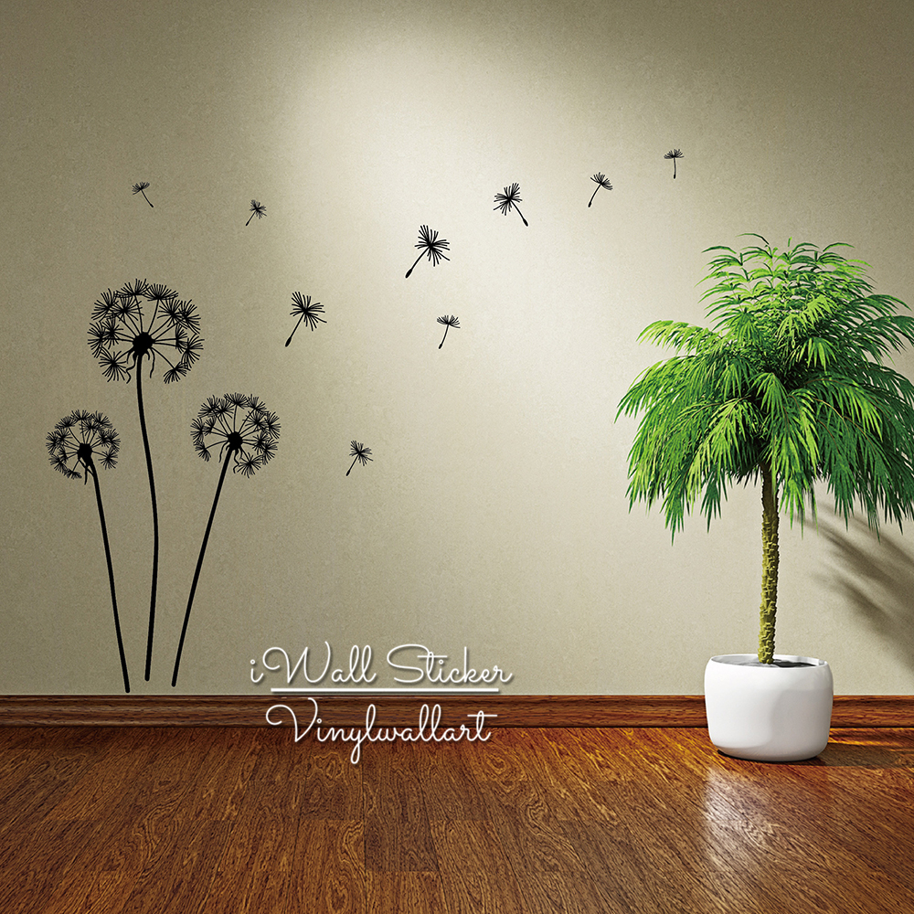 Aliexpress buy dandelion wall sticker dandelion flower wall aliexpress buy dandelion wall sticker dandelion flower wall decal diy dandelion sticker modern vinyl wall art cut vinyl flower wall decor f2 from amipublicfo Images