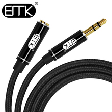 цена на EMK aux extension cable male to female 3.5 audio cable 3.5mm jack cable 0.5m 2m 3m Extender Cord for iPhone Amplifier Headphone