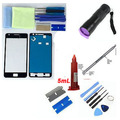 For Samsung Galaxy S2 i9100/ i9105 Front Glass Screen Replacement Repair Kit BLACK