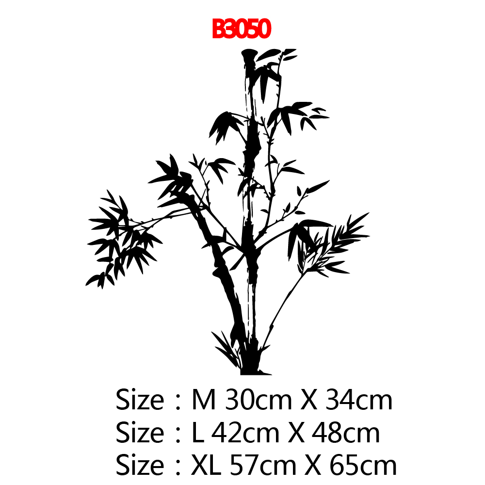 Cartoon bamboo Home Decoration Accessories Living Room Bedroom Wall Decal Home Decor