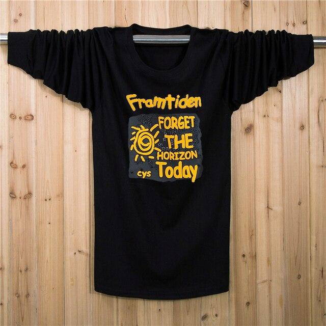 XL-7XL Plus Size t-shirt Men Cotton Fitness Long t shirt Casual T shirt XL XXL XXXL 4XL 5XL 6XL 7XL
