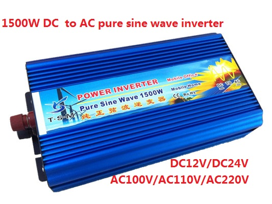 digital display peak power 3000w rated power 1500w Pure Sine Wave Inverter DC12V/24v to AC110V/220V 50Hz/60Hz for solar system