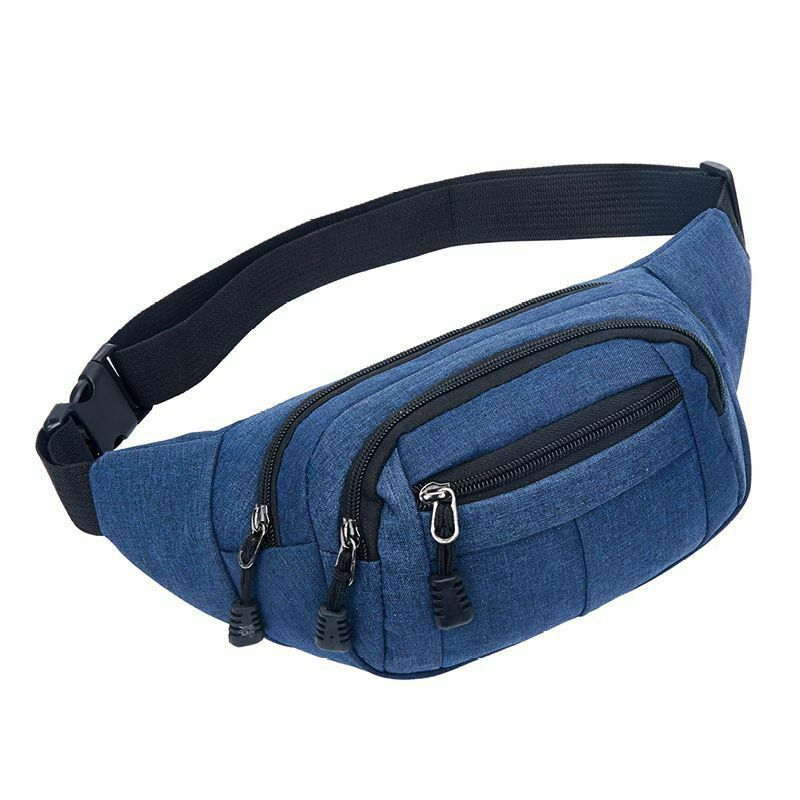 Fashion Men Women Unisex Casual Travel Bum Bag Fanny Waist Pack Zipped Outdoor Sports Shoulder Bag Cellphone Chest Hip Pack