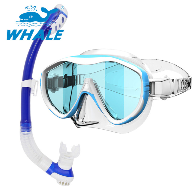 2017 High Quality diving Mask Snorkel set with Mirror lens scuba diving gear diving mask snorkel set MMK100+ SK100