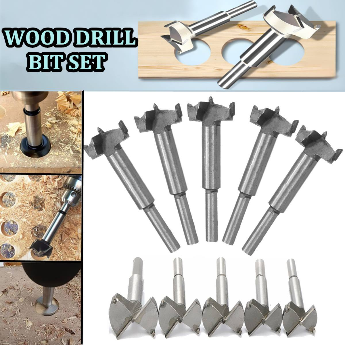 1pcs Forstner Wood Drill Bit Self Centering Hole Saw Cutter Woodworking Tools Set 14mm-65mm Hinge Forstner Drill Bits